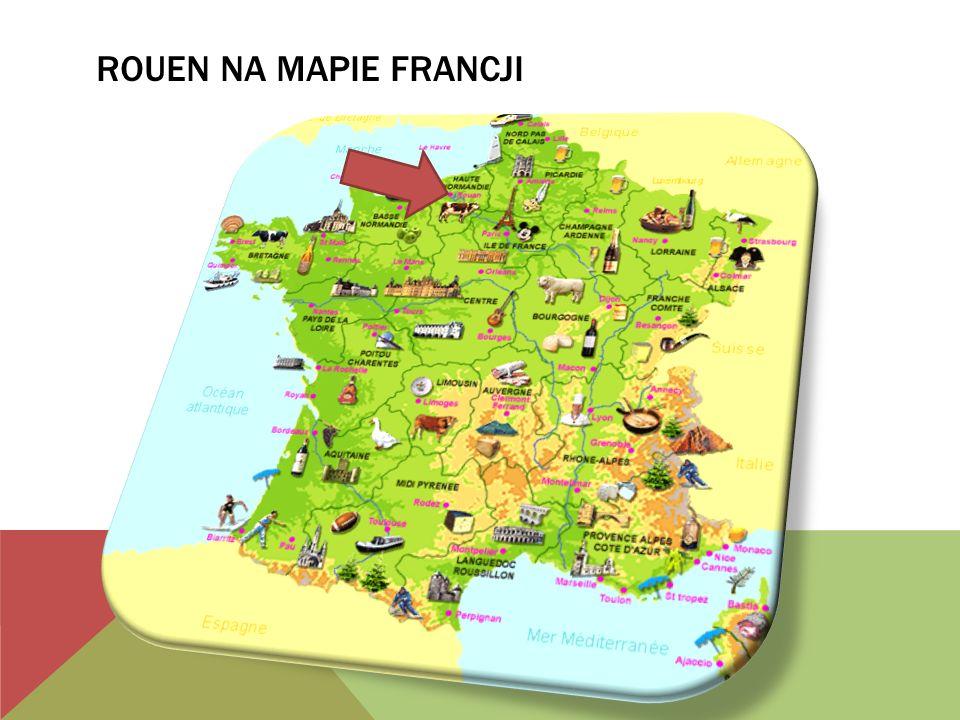 ROUEN NA MAPIE FRANCJI