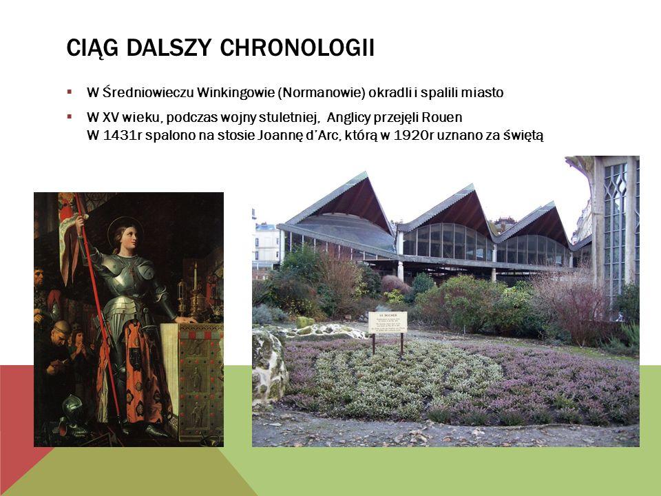 CIĄG DALSZY CHRONOLOGII W Renesansie gospodarka miasta rozwijała się dzięki sukiennictwie.