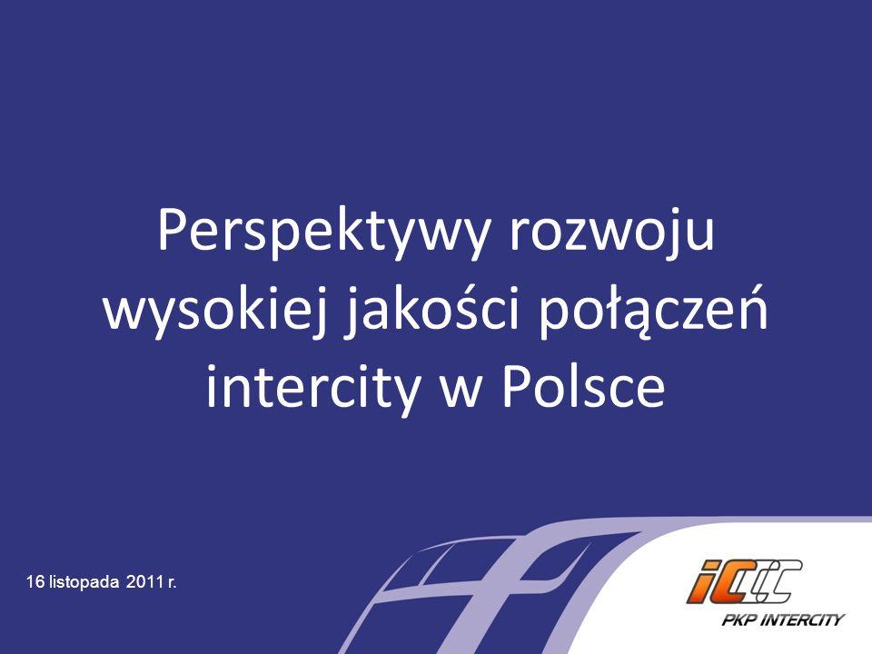 Perspektywy rozwoju wysokiej jakości połączeń intercity w Polsce 16 listopada 2011 r.