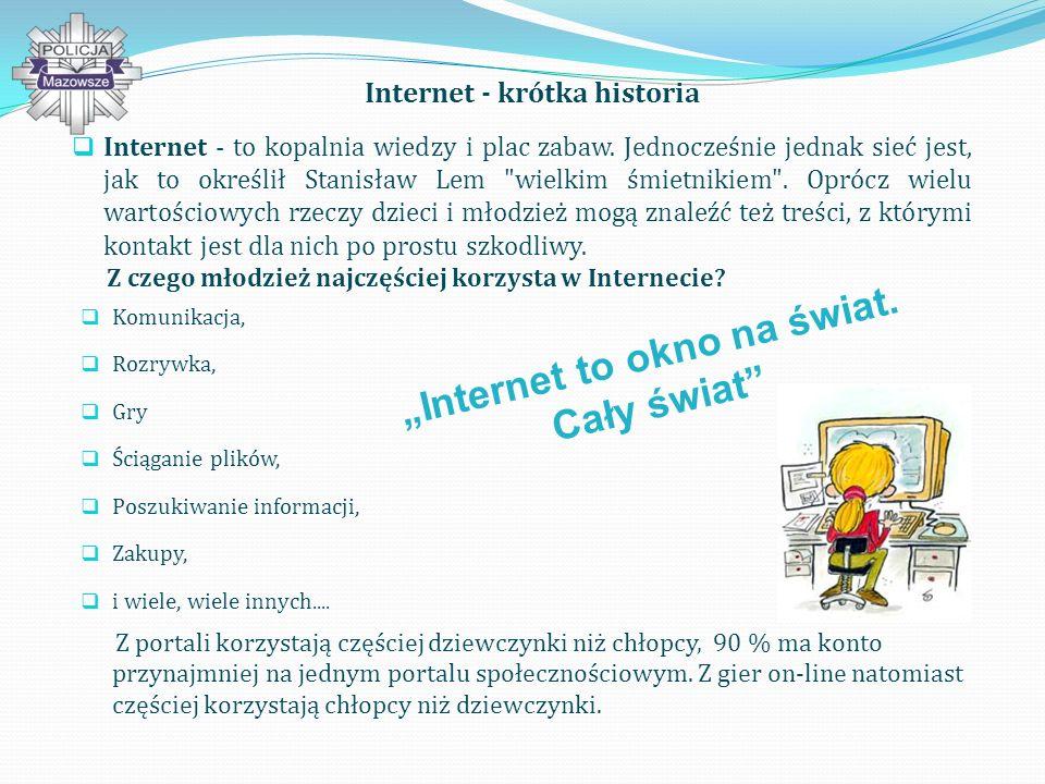 Internet - krótka historia Internet - to kopalnia wiedzy i plac zabaw.