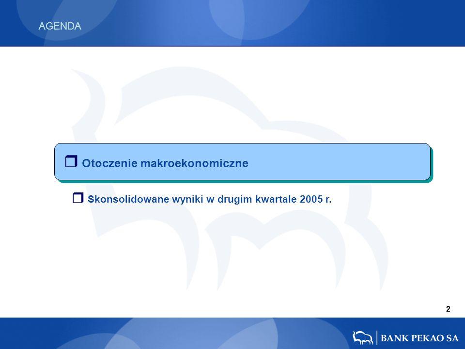AGENDA r Otoczenie makroekonomiczne 2 r Skonsolidowane wyniki w drugim kwartale 2005 r.