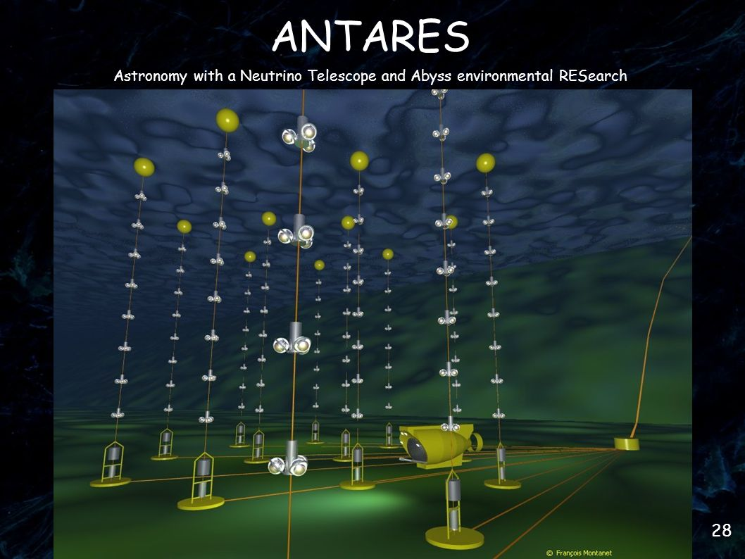 28 ANTARES Astronomy with a Neutrino Telescope and Abyss environmental RESearch