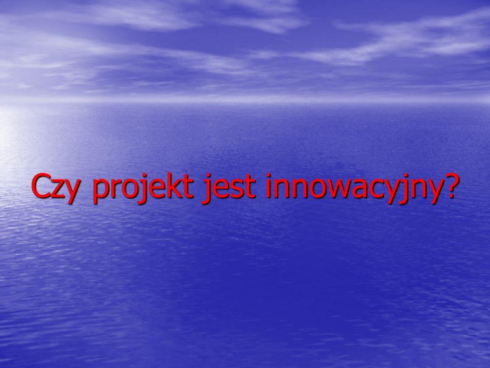 Czy projekt jest innowacyjny?