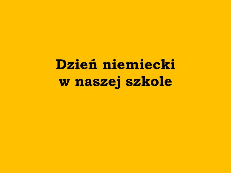 Planowane działania Samorządu Uczniowskiego: Niemiecka apteczka językowa Quiz na temat Niemiec Konkurs – flaga narodowa w stroju Gazetka SU