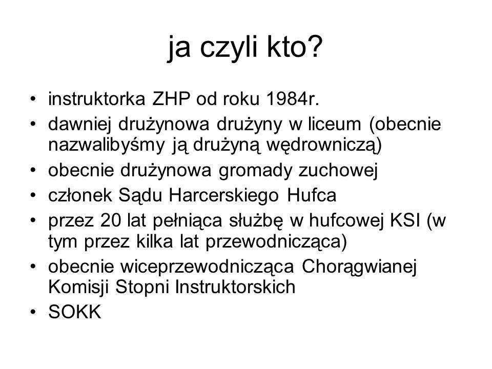 ja czyli kto. instruktorka ZHP od roku 1984r.
