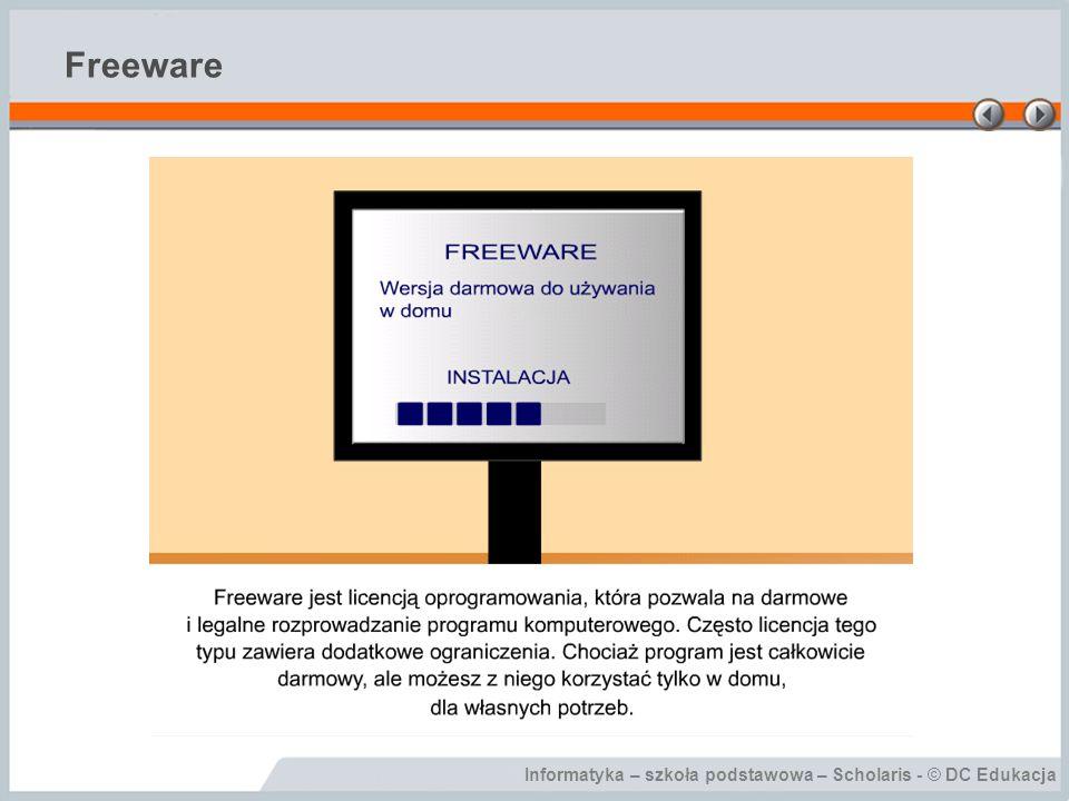 Informatyka – szkoła podstawowa – Scholaris - © DC Edukacja Freeware