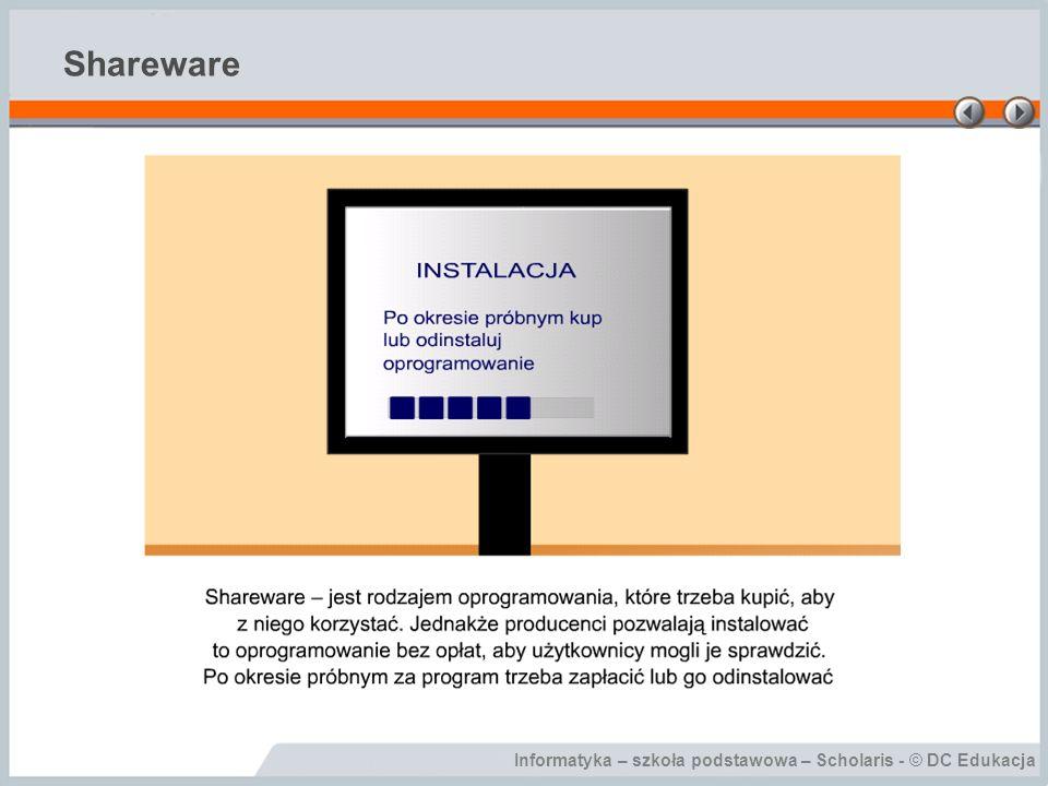 Informatyka – szkoła podstawowa – Scholaris - © DC Edukacja Shareware