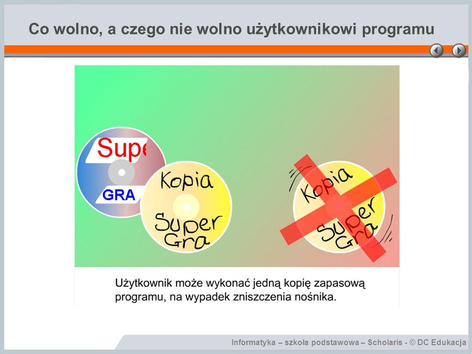 Informatyka – szkoła podstawowa – Scholaris - © DC Edukacja Programy demonstracyjne – Demo