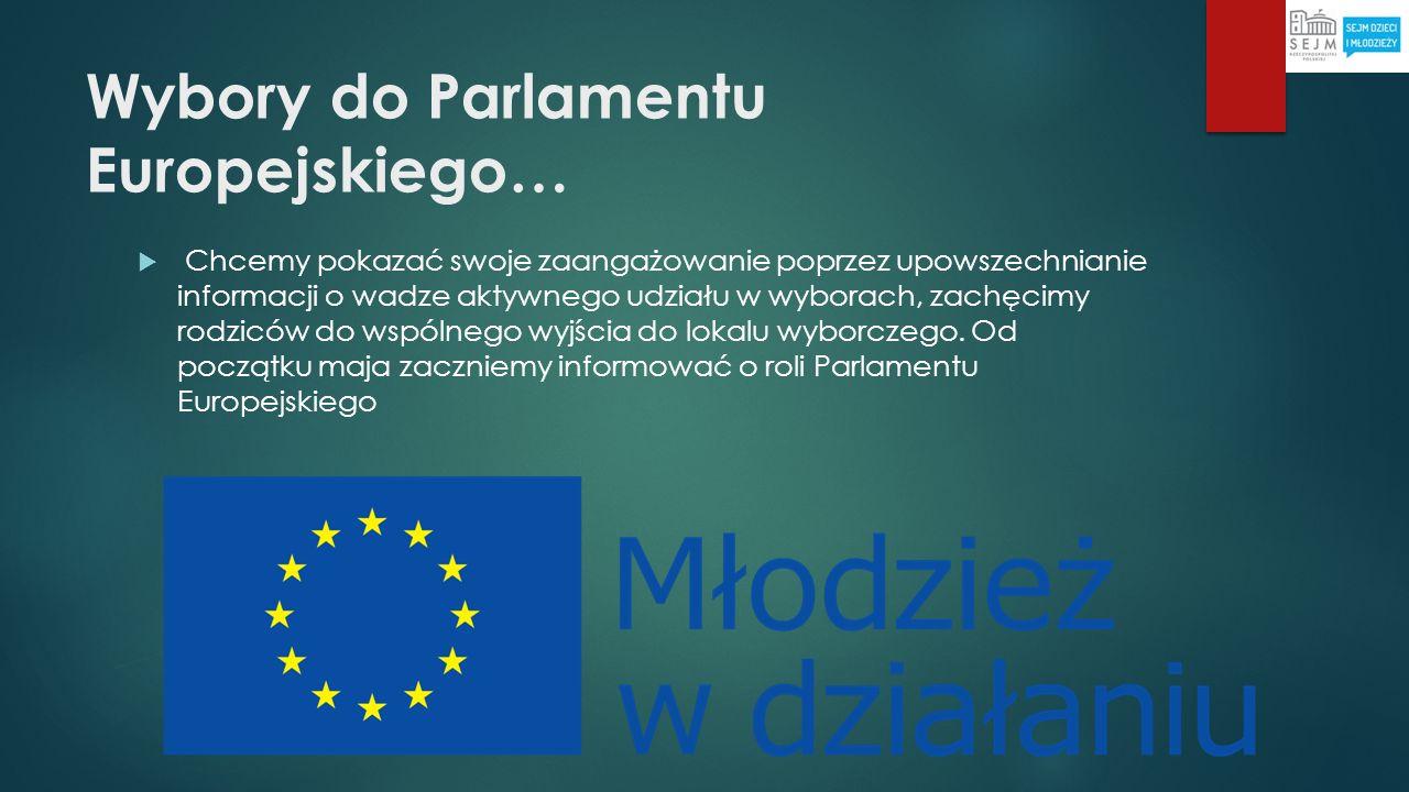 Wybory do Parlamentu Europejskiego… Chcemy pokazać swoje zaangażowanie poprzez upowszechnianie informacji o wadze aktywnego udziału w wyborach, zachęc