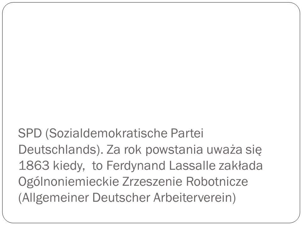 Oto niektóre partie obecne w niemieckim parlamencie. Która z partii jest najstarsza i ma najdłuższą tradycję?