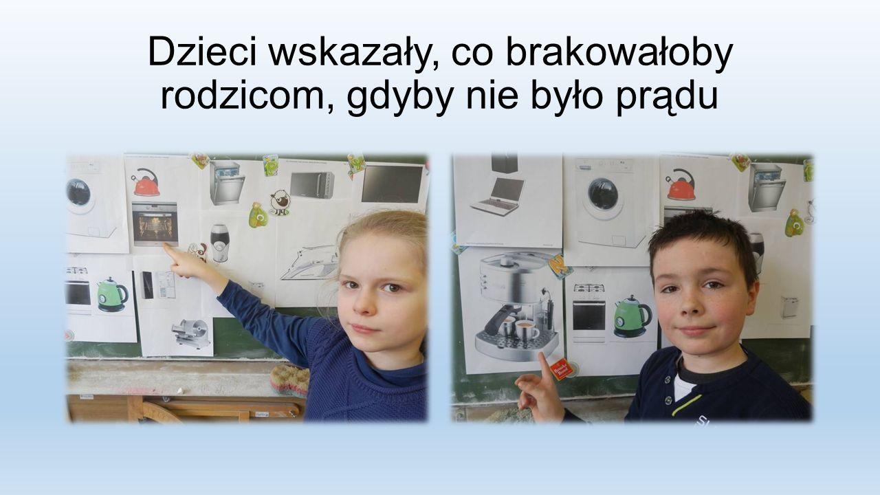Dzieci wskazały, co brakowałoby rodzicom, gdyby nie było prądu