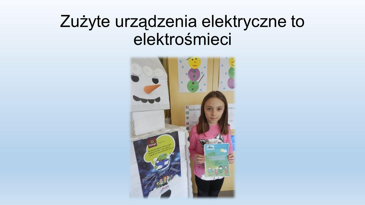 Zużyte urządzenia elektryczne to elektrośmieci