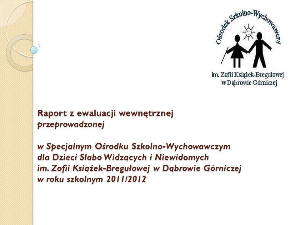 Raport z ewaluacji wewnętrznej przeprowadzonej w Specjalnym Ośrodku Szkolno-Wychowawczym dla Dzieci Słabo Widzących i Niewidomych im. Zofii Książek-Br