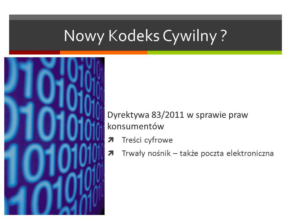 Nowy Kodeks Cywilny .