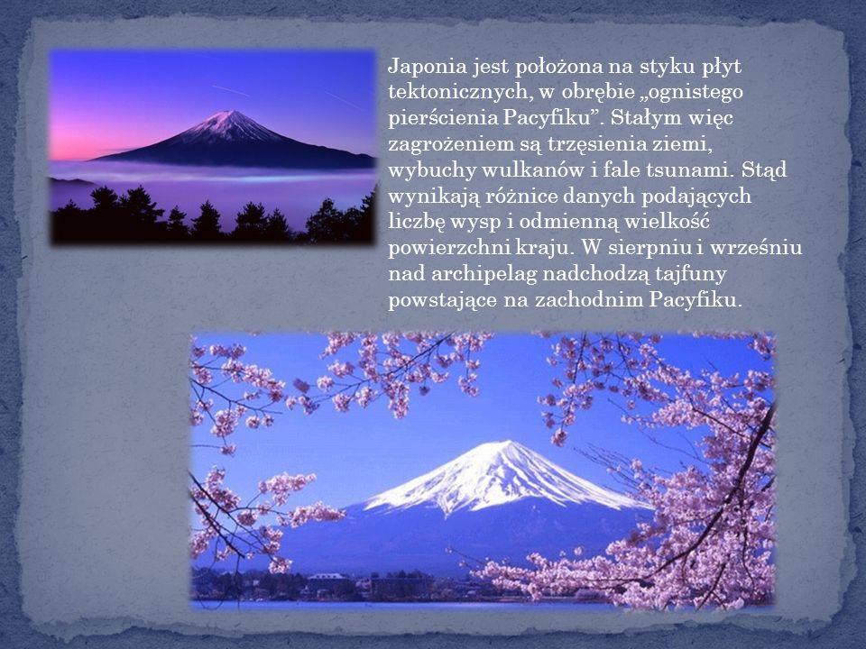 Japonia jest położona na styku płyt tektonicznych, w obrębie ognistego pierścienia Pacyfiku.