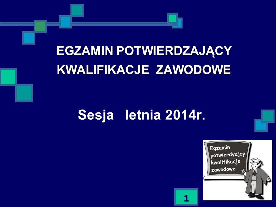 22 Egzamin potwierdzający kwalifikacje zawodowe sesja letnia 2014 P o w o d z e n i a