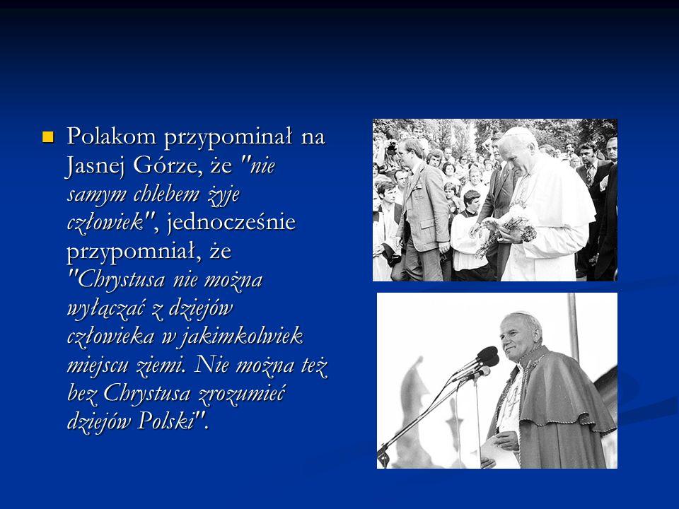 Władzom PZPR nie w smak było też wystąpienie Papieża na pl.