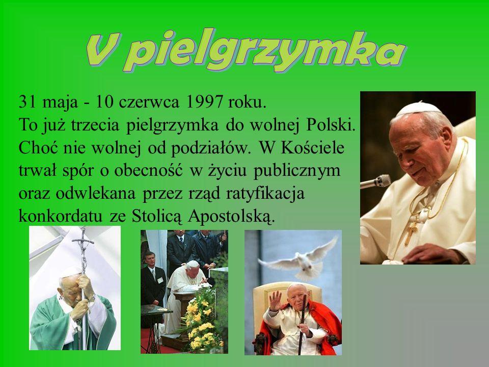 31 maja - 10 czerwca 1997 roku.To już trzecia pielgrzymka do wolnej Polski.