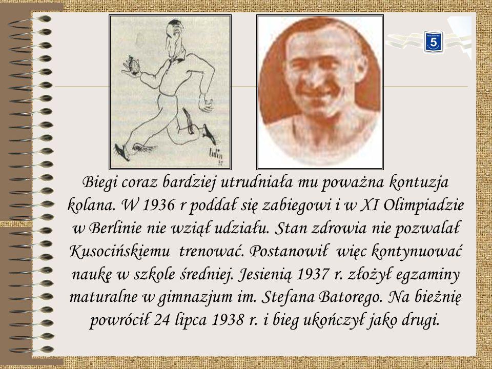 Kusociński chciał się wycofać z dalszych występów, ale dowiedział się, że do Warszawy przybędzie biegacz fiński Iso-Hollo, by pokonać, Kusocińskiego w