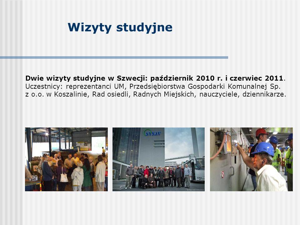 Wizyty studyjne Dwie wizyty studyjne w Szwecji: październik 2010 r.