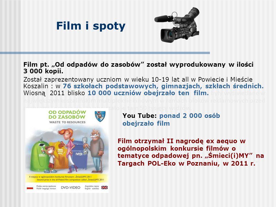Film i spoty Film otrzymał II nagrodę ex aequo w ogólnopolskim konkursie filmów o tematyce odpadowej pn.
