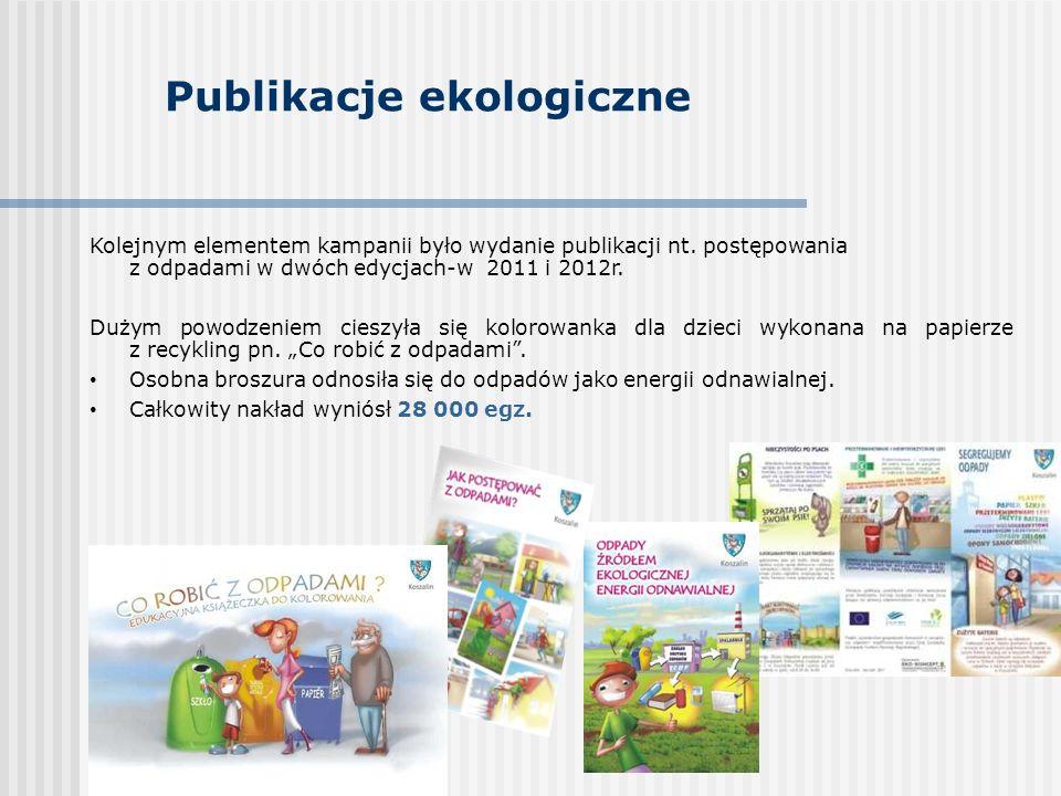 Publikacje ekologiczne Kolejnym elementem kampanii było wydanie publikacji nt.