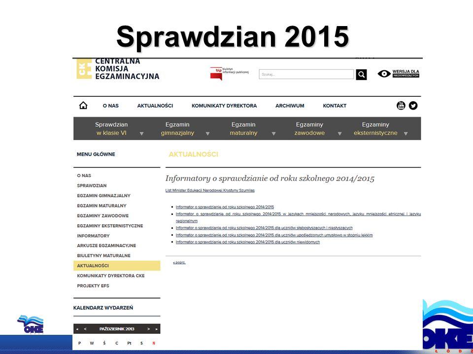 Sprawdzian 2015