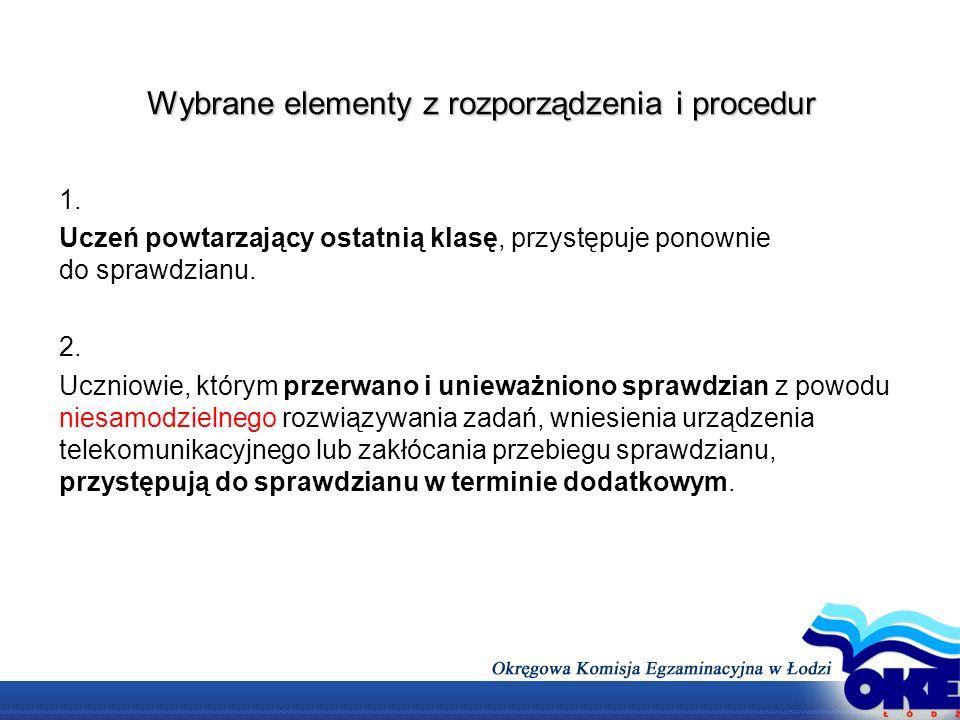 Wybrane elementy z rozporządzenia i procedur 3.