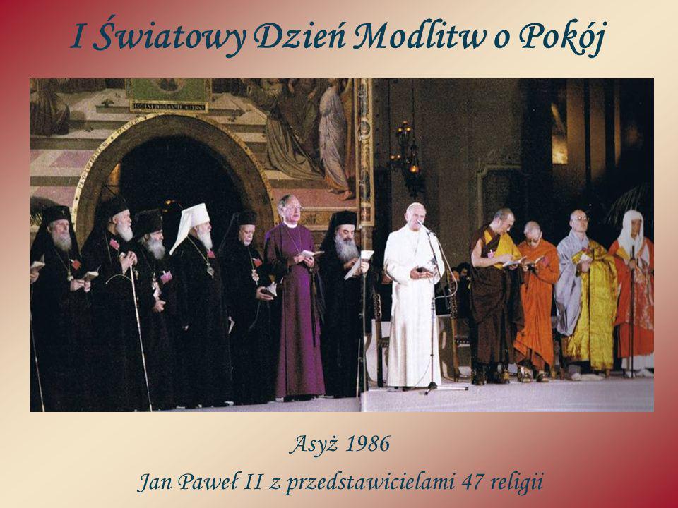 I Światowy Dzień Modlitw o Pokój Asyż 1986 Jan Paweł II z przedstawicielami 47 religii