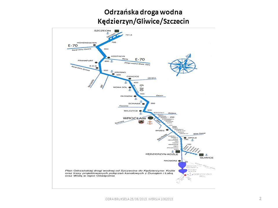 2 Odrzańska droga wodna Kędzierzyn/Gliwice/Szczecin