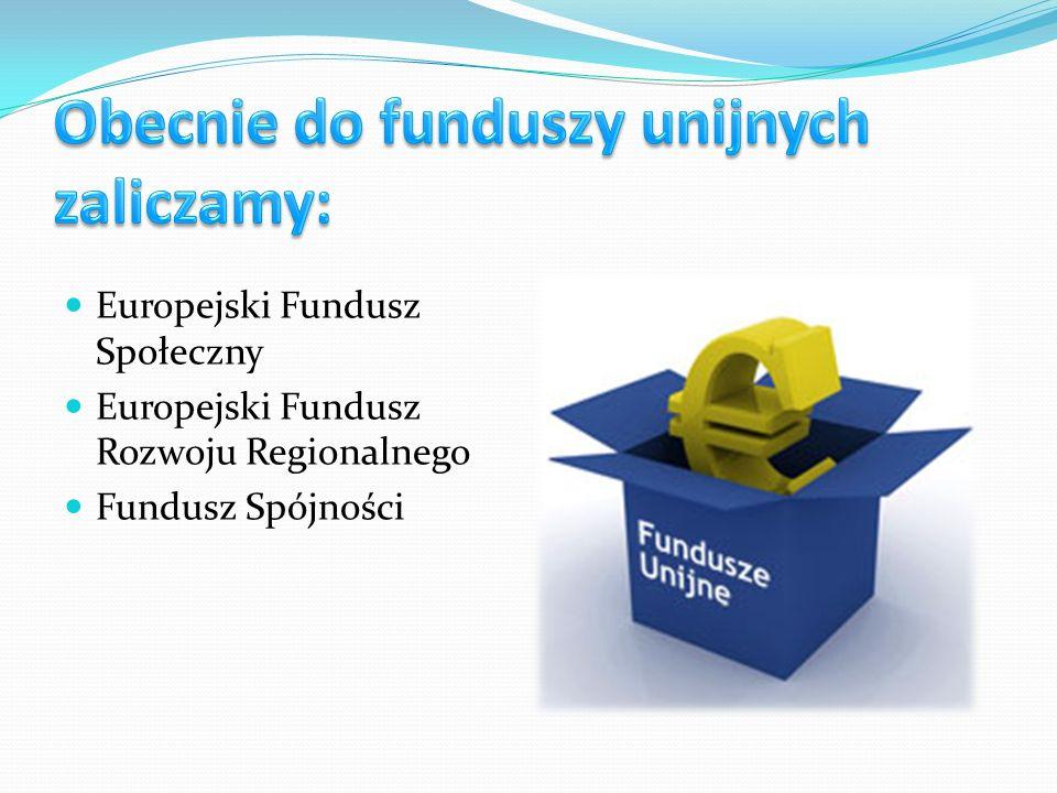 Europejski Fundusz Społeczny Europejski Fundusz Rozwoju Regionalnego Fundusz Spójności