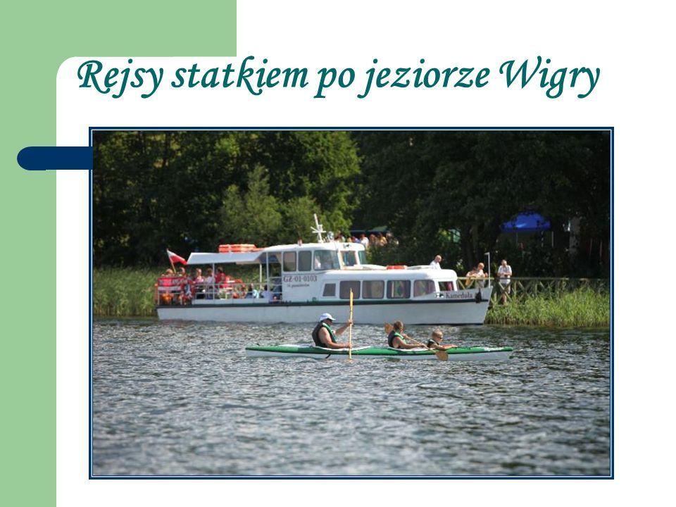 Rejsy statkiem po jeziorze Wigry