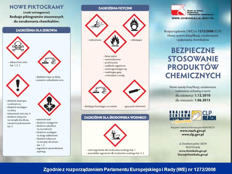 Zgodnie z rozporządzeniem Parlamentu Europejskiego i Rady (WE) nr 1272/2008