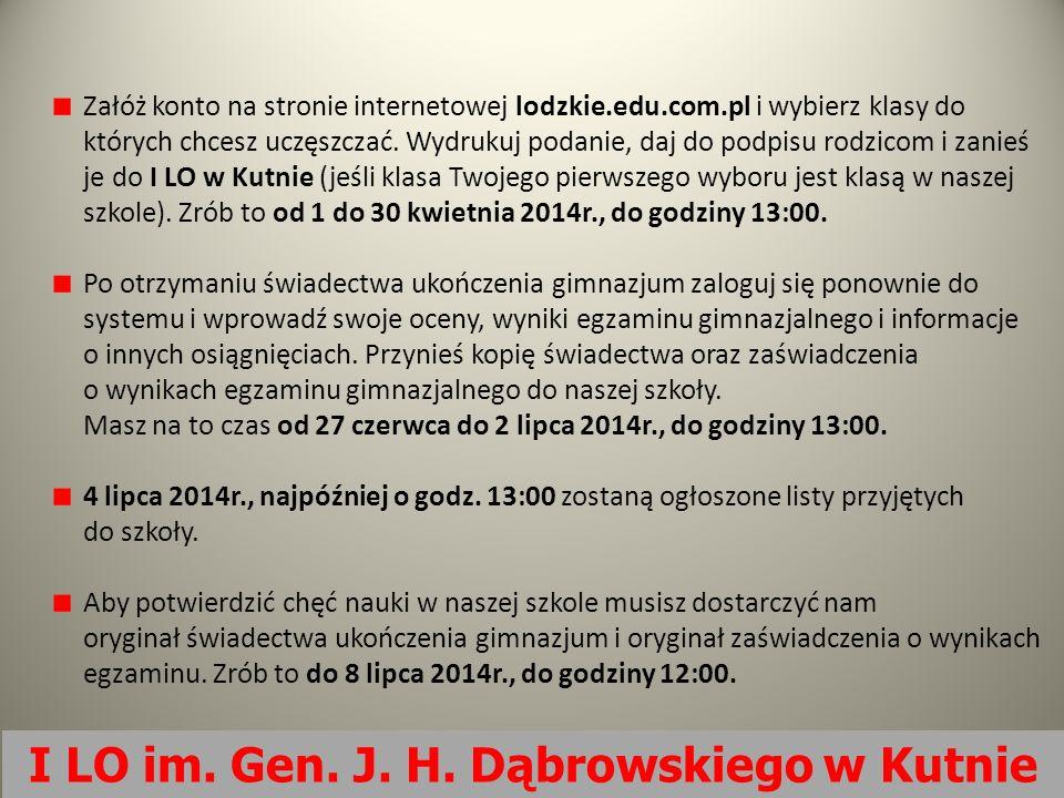 Załóż konto na stronie internetowej lodzkie.edu.com.pl i wybierz klasy do których chcesz uczęszczać. Wydrukuj podanie, daj do podpisu rodzicom i zanie
