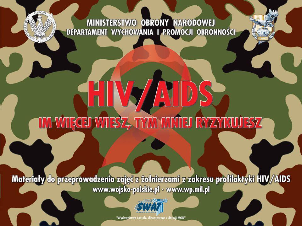 każdego roku, na całym świecie, ulega zakażeniu HIV ok.