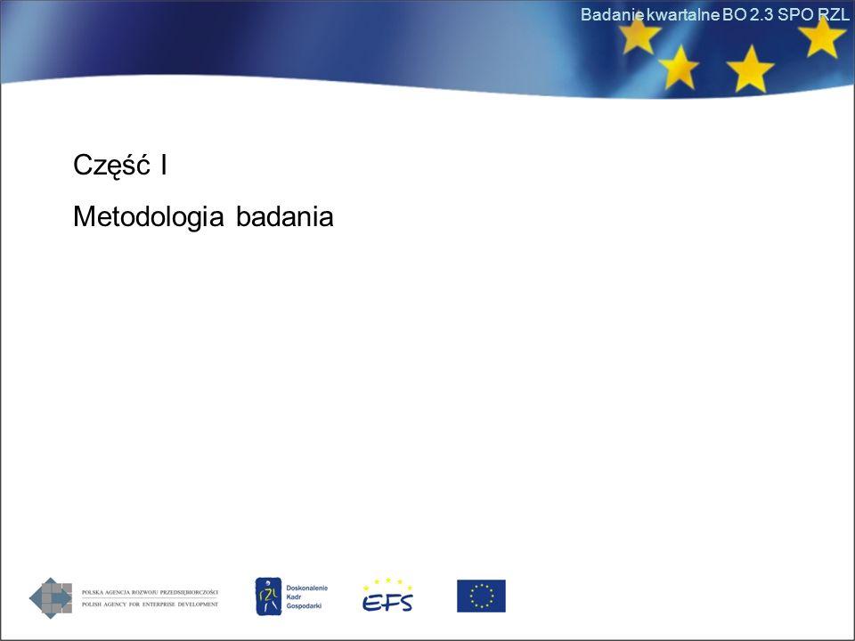 Badanie kwartalne BO 2.3 SPO RZL Część I Metodologia badania