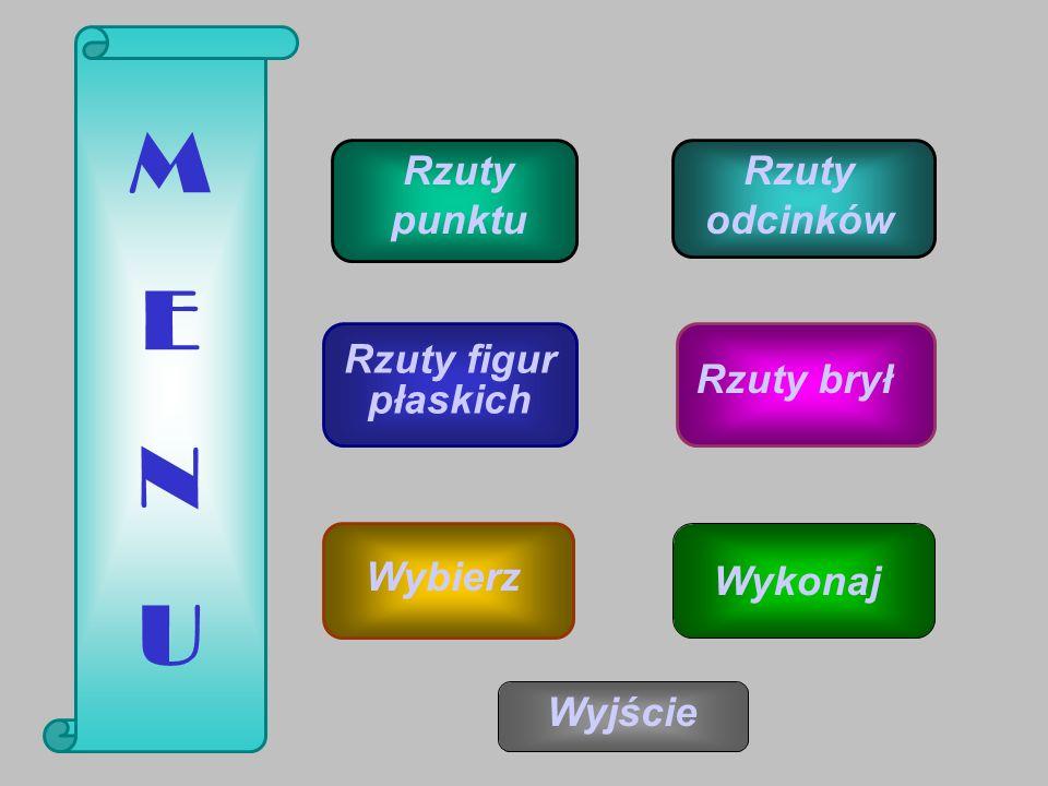 2 A B C C B A Π1Π1 Π2Π2 Π3Π3 Nazwij brakujący rzut i wykreśl go.