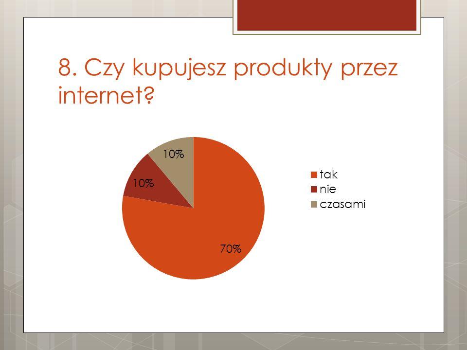 8. Czy kupujesz produkty przez internet?