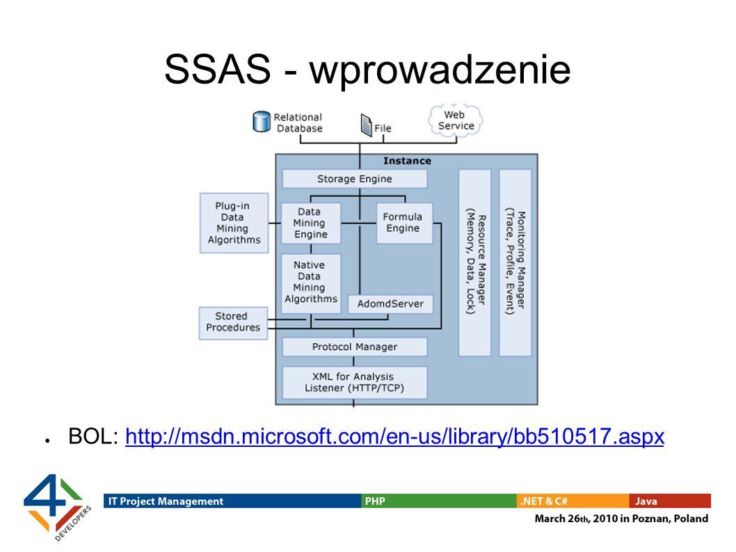 SSAS - wprowadzenie BOL: http://msdn.microsoft.com/en-us/library/bb510517.aspxhttp://msdn.microsoft.com/en-us/library/bb510517.aspx