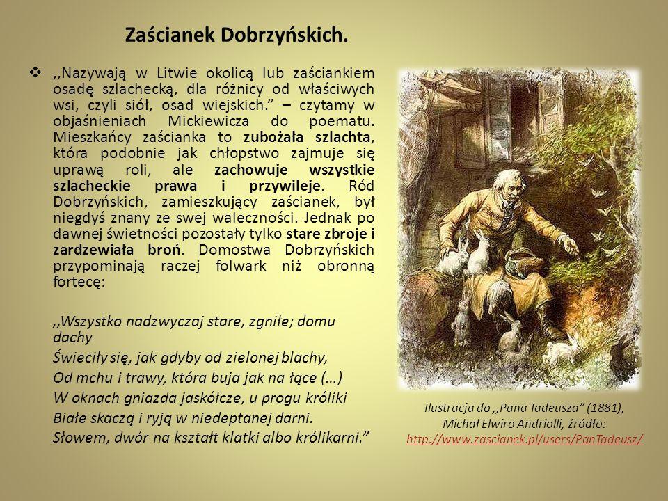 Zaścianek Dobrzyńskich.,,Nazywają w Litwie okolicą lub zaściankiem osadę szlachecką, dla różnicy od właściwych wsi, czyli siół, osad wiejskich. – czyt