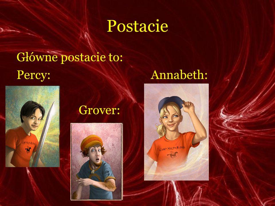 Postacie Główne postacie to: Percy: Annabeth: Grover: