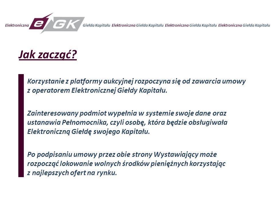 Elektroniczna Giełda Kapitału Elektroniczna Giełda Kapitału Jak zacząć.
