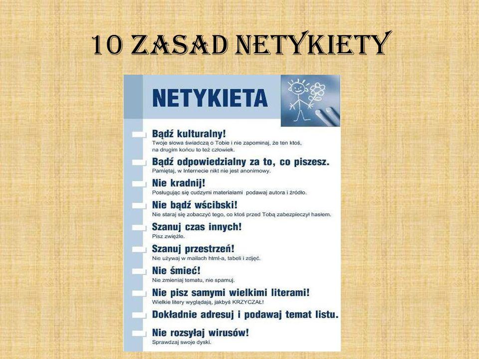 10 ZASAD NETYKIETY