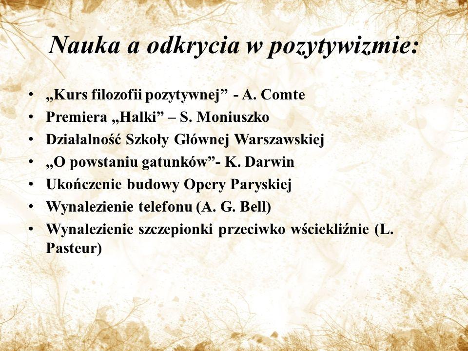 Nauka a odkrycia w pozytywizmie: Kurs filozofii pozytywnej - A.