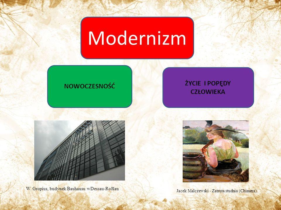 Modernizm NOWOCZESNOŚĆ ŻYCIE I POPĘDY CZŁOWIEKA W.