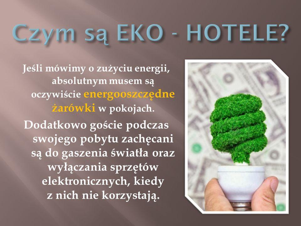 Zielone hotele to także ekologiczny wystrój i wyposażenie.
