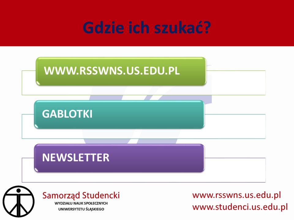 Gdzie ich szukać? WWW.RSSWNS.US.EDU.PLGABLOTKINEWSLETTER