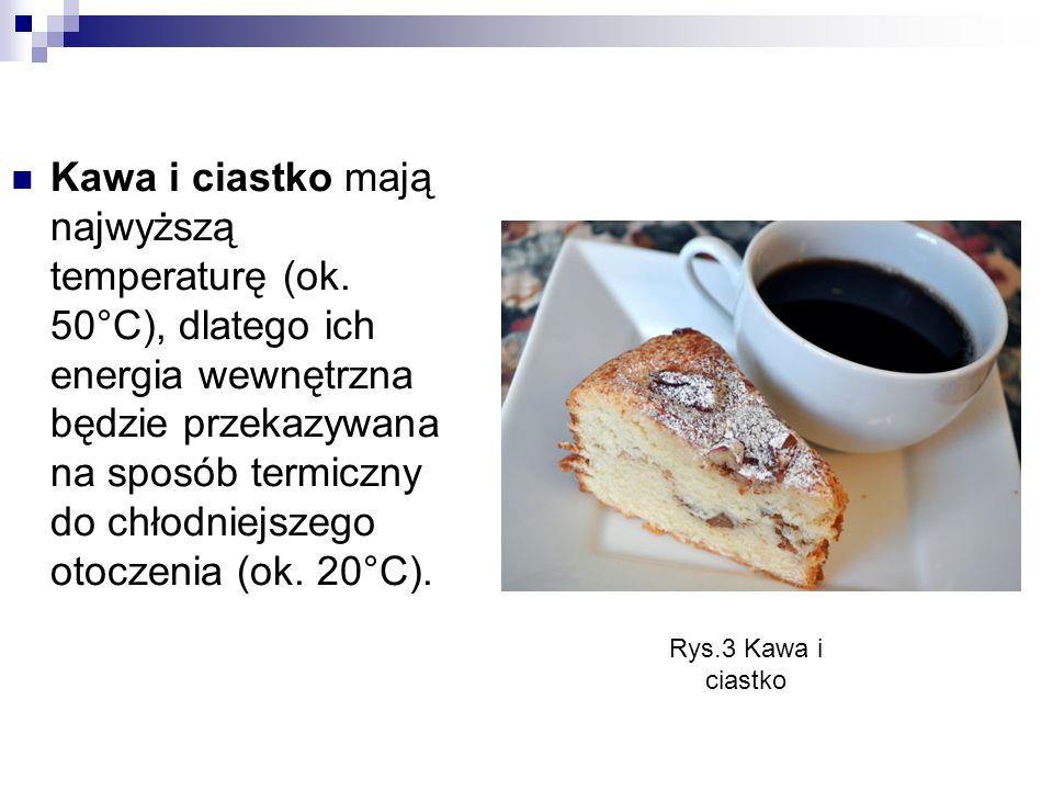 Kawa i ciastko mają najwyższą temperaturę (ok.