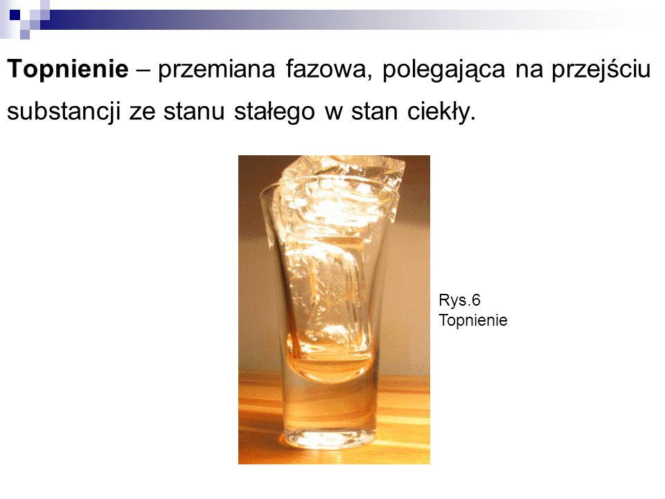 Topnienie – przemiana fazowa, polegająca na przejściu substancji ze stanu stałego w stan ciekły.