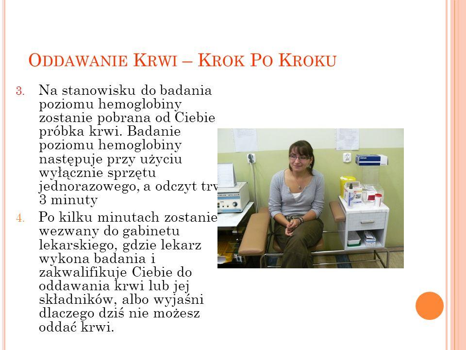 O DDAWANIE K RWI – K ROK P O K ROKU 3.